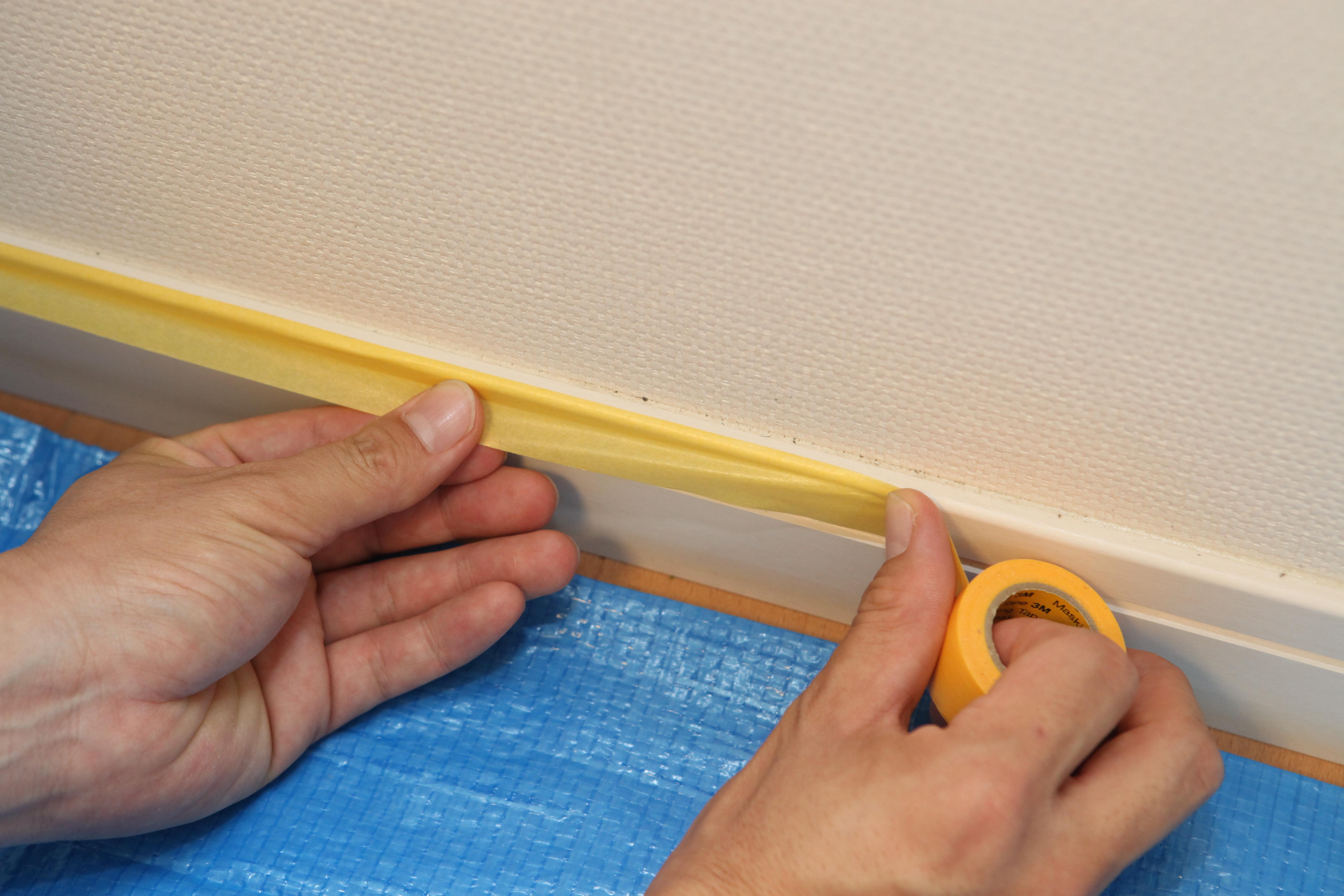 珪藻土や漆喰を塗る時の養生の方法