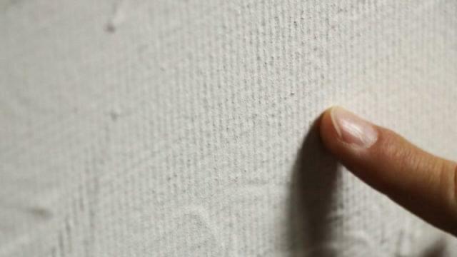ビニールクロスの上に漆喰を一回塗った写真